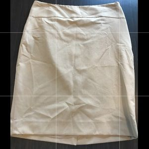 Cream colored pencil skirt